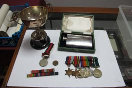 A WWII and Later Group of Six Medals, comprising War Medal, Defence Medal, 1939-45 Star, Burma Star,