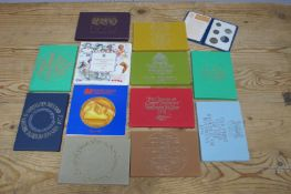 Five Royal Mint Proof Sets Coinage of Great Britain and Northern Ireland, 1970, 72, 74, 75 (x 2),