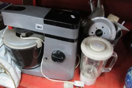 Kenwood Major Mixer/Blender and Slicer - Untested sold for parts only.