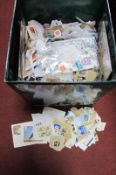 Stamps Large Quantity, predominately U.K, used:- One Box
