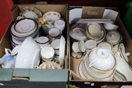 Limoges, Minton, Copeland, Spode, Crown China and Other Table Pottery:- Two Boxes