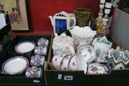 Worcester Ramekins, Sadler, Wade and Price Novelty Teapots, Sylvac, jug vases, Italian table ware