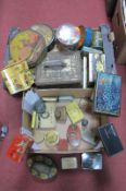 A Large Quantity of Collectable Tins, Rowntrees, CWS Biscuits, etc:- Two Boxes