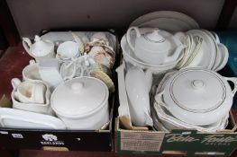 Spode, TG Green, Harmony and Others White Table Pottery:- Two Boxes