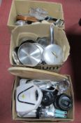 Copper Chef, Ninja Professional, Baixar, Aga and other pans, kitchenware:- Three Boxes