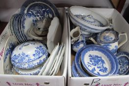 Losol 'Tokio' Tureens, Adams 'Landscapes' coffee pot, Maddock, Willow Pattern, other blue and