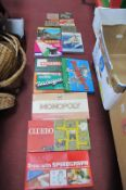 Monopoly, Donkey Party, Cluedo, Spirograph, draughts, chess, other games, Huvango, HMS Sheffield,