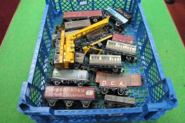 Fifteen 'OO' Scale Four Wheel Railway Wagons, by Hornby, Lima and others, all playworn.