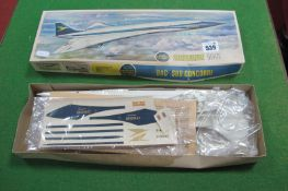 An Early 1970's 144th Scale Model of Concord by Airfix, Series 5, appears unstarted, boxed (tear