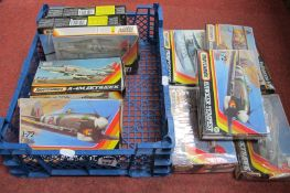 Twelve 1980's 1/72 Scale Plastic Aircraft Kits by Airfix, one Series 2, five, Series 3, one Series