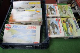 Eight Plastic 1/72nd Scale Aircraft Kits by Airfix, four Series 1, three Series 2, one Series 3,
