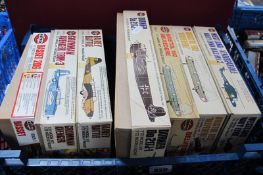 Seven 1/72nd Scale Plastic Aircraft Kits by Airfix, (1) Series 2, (5) Series 3, (1) Series 4,