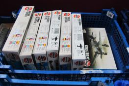 Seven Plastic 1/72nd Scale Aircraft Kits by Airfix, six Series 2, one Series 3, including Avro Anson