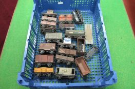 Over Fifteen 'OO'/4mm Gauge Four Wheel Railway Wagons, by Airfix, Dapol and others, all adapted,