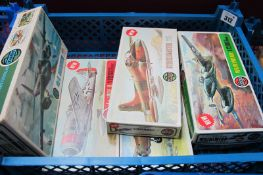 Six Mainly 1970's 1/72nd Scale Aircraft Kits by Airfix, including Avro Anson and Mosquito, appear
