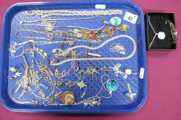 """Assorted Costume Jewellery, including """"925"""" pendant on snake type chain stamped """"925"""", further"""