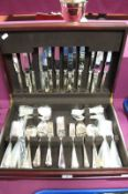 """An Eight Setting Matched Canteen of Plated Cutlery, knife blades stamped """"Ashberry Sheffield"""