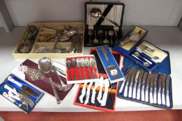 A Mixed Lot of Assorted Plated Cutlery, including serving spoon with Middle Eastern style handle,