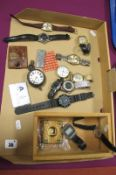 A Collection of Assorted Wristwatches, including vintage Regency Super-Automatic, Guda Super-