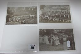 Tissington - Derbyshire, Three Circa 1908 Picture Postcards, depicting scenes at The Tissington