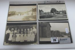 Monyash - Derbyshire, Twenty Nine Early XX Century and Later Picture Postcards, including Village,