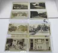 Hassop - Derbyshire, Approximately Twenty Early XX Century and Later Picture Postcards, Including