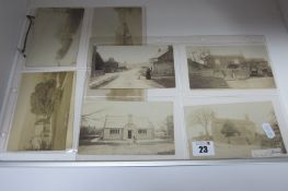 Pilsley Nr. Bakewell - Derbyshire, Thirteen Early XX Century Picture Postcards, relating to