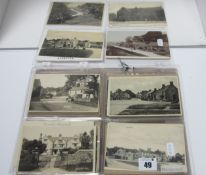 Hartington - Derbyshire, In Excess of Sixty Early XX Century and Later Picture Postcards,