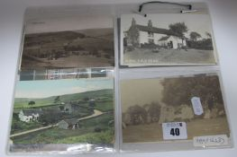 Hayfield - Derbyshire, Fourteen Early XX Century and Later Picture Postcards, including Smith Fold