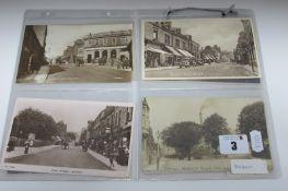 Ten Early XX Century and Later Picture Postcards, relating to Belper, Birchover, Blackamoor,