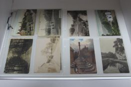 Seventeen Early XX Century and Later Picture Postcards, relating to Bonsall, Old Brampton, Brampton,