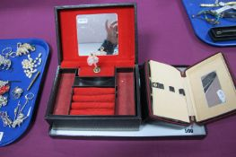 """A Vintage Style Musical Jewellery Box, with rotating ballet dancer, stamp to underneath states """"By"""