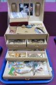 A Mixed Lot of Assorted Costume Jewellery, including necklaces, dress rings, enamel heart shape