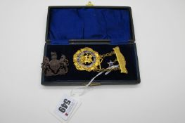 "Masonic Interest; A c.Early XX Century Order of Sons of St. George Medallion Pendant, ""HONI SOIT QUI"