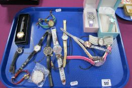 A Small Collection of Modern Ladies Wristwatches, including Sekonda, Citron, Lorus, Limit, etc:- One