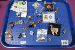 A Small Collection of Enamel Pins/Badges, including children's TV characters, charity, etc:- One
