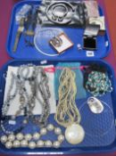 Assorted Modern Costume Bead Necklaces, including long fresh water pearl bead necklace; imitation