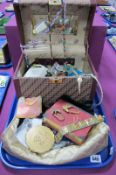 Assorted Costume Jewellery, including bead necklaces, Stratton powder compact, ladies wristwatch,