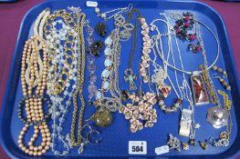 Imitation Pearl Bead Necklaces, panel style bracelets, ornate floral necklaces, a modern sliding