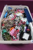 A Quantity of Assorted Costume Jewellery, including bead necklaces, bangles, bracelets, etc:- One
