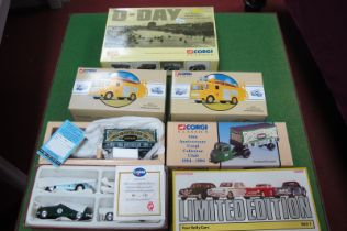 Two Corgi Classic, No 97360 Rotherham Fire Brigade, Corgi 4 Rally Cars, Corgi D-Day set and 1994