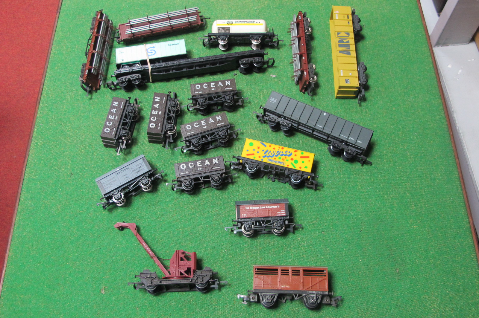 Over Fifteen 'OO' Scale Four Wheel Wagons, by Hornby, Lima and others, playworn.