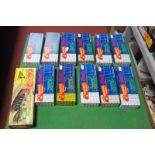 Twelve 'HO' Scale American Outline Plastic Rolling Stock Kits, by Roundhouse, appear unstarted,