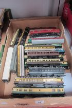 Over Twenty 'OO' Scale Tri-ang/Tri-ang Hornby Eight Wheel Railway Coaches, all playworn, sometimes
