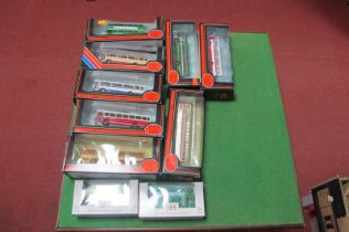 Ten EFE 'OO' Scale Buses, all difference, boxed.