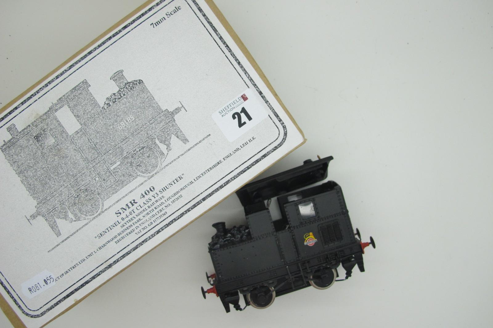 An 'O' Gauge/7mm Model of a Sentinal 0-4-0T Class Y3 Shunter, by Skytrex model railways, minor signs