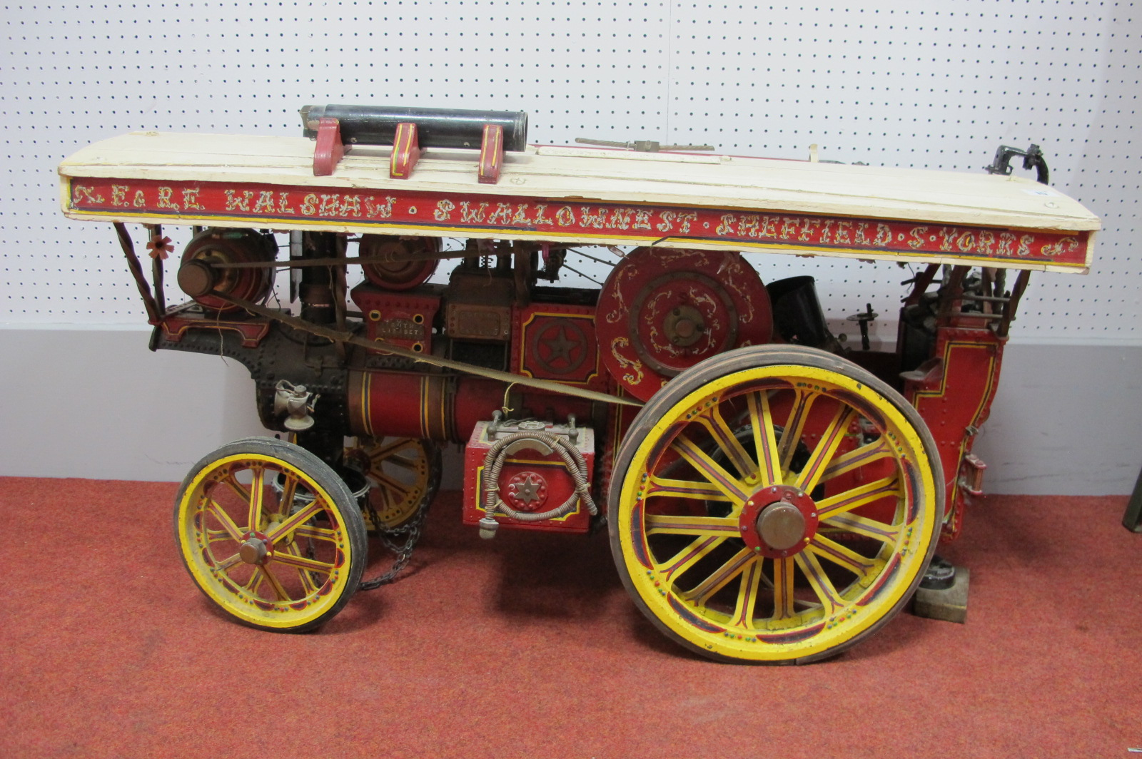 WITHDRAWN A 1½ Inch Scale Model of a J. Burnell & Son Showman's Engine, well detailed with many