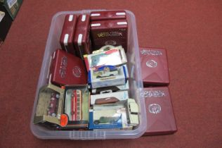 A Set of Cased Star Trek Voyager DVD's, boxed Lledo and other boxed diecast.