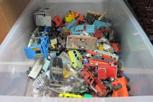A Large Quantity of Dinky, Corgi, Matchbox, Timpo and Other Diecast Vehicles, Lead Figures, all
