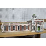 A 7mm/'O' Gauge 'County Court' Building, small parts damaged.